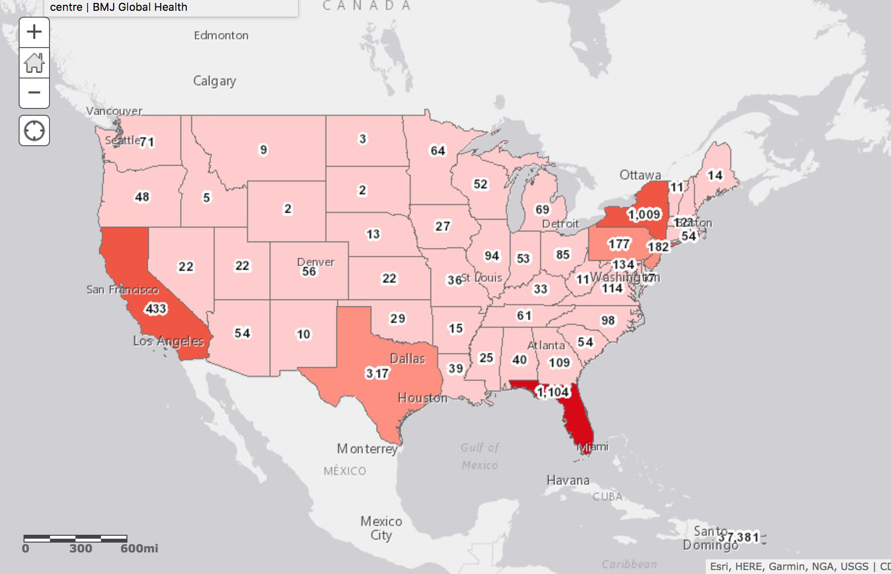 Us Zika Virus Map Globalinterco - Us mosquito population map