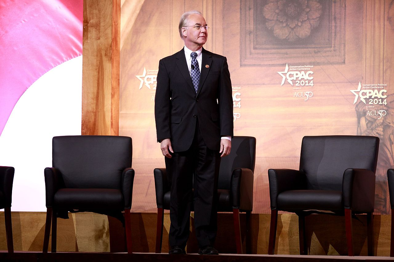 HSS Secretary Tom Price. Photo: Wikimedia
