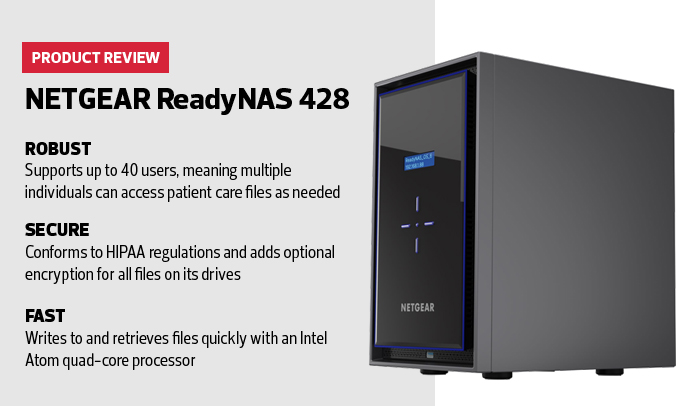 Review: The NETGEAR ReadyNAS 428 Keeps Health Data Safe and