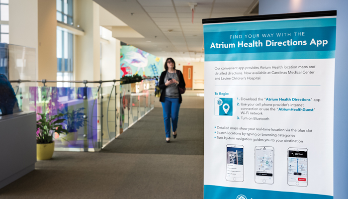 Atrium Health's IT staff worked with its facilities and marketing teams to ensure map renderings  on the app would be consumer friendly.