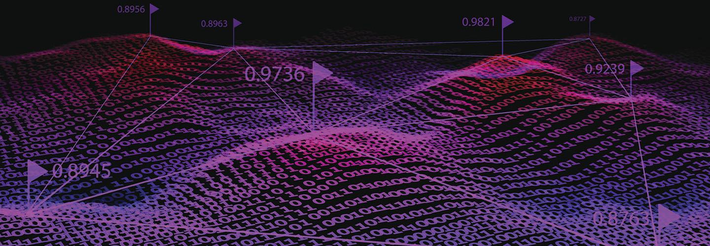 Big data. Binary code background