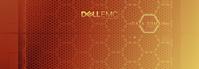 Dell logo on orange background