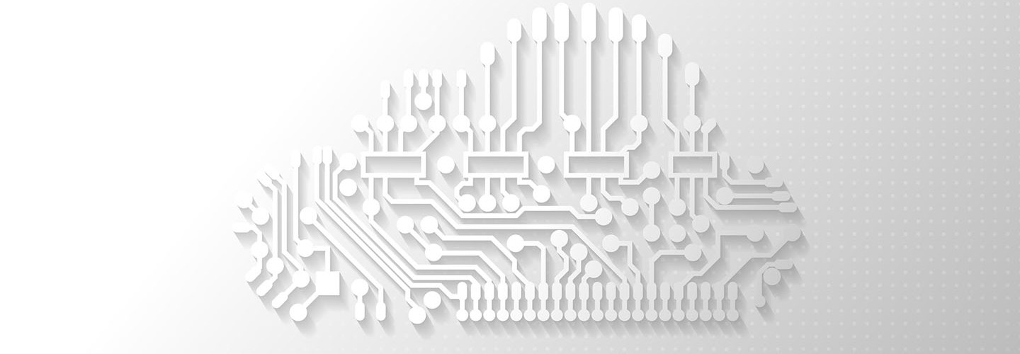 Cloud technology abstract background.