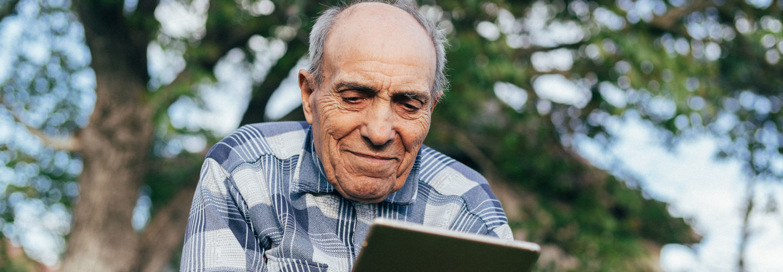 Man using telehealth