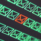 Row of green email icon with one red hacked email icon