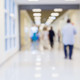 Blurred hospital hallway.