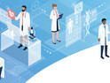 Professional doctors and patients in a virtual environment