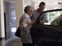 Elderly patient uses ridesharing for nonemergency transportation