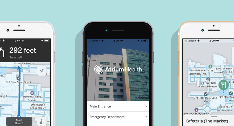 Atrium Health wants to  use its wayfinding tool to improve both the patient and the visitor experience.