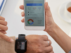 Smartwatch heart monitoring.