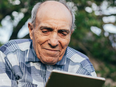 Man using telehealth